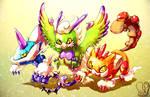 Pokemon : Sky Trio by Sa-Dui