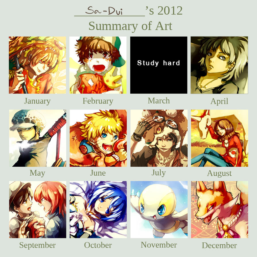2012 Art Summary by Sa-Dui