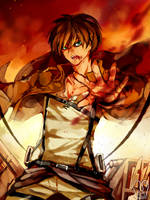 Shingeki no Kyojin : Eren Jaeger by Sa-Dui