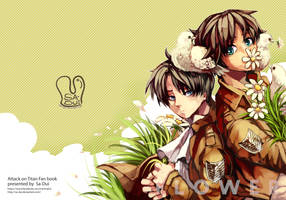 Attack on Titan : flower doujin cover