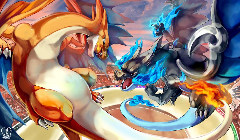 Mega Charizard X vs Mega Charizard Y by Sa-Dui on DeviantArt