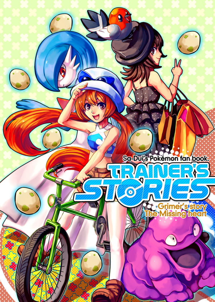 Pokemon fan book cover : Trainer's stories by Sa-Dui