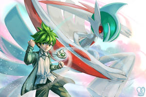 Pokemon : Wally and Mega Gallade by Sa-Dui