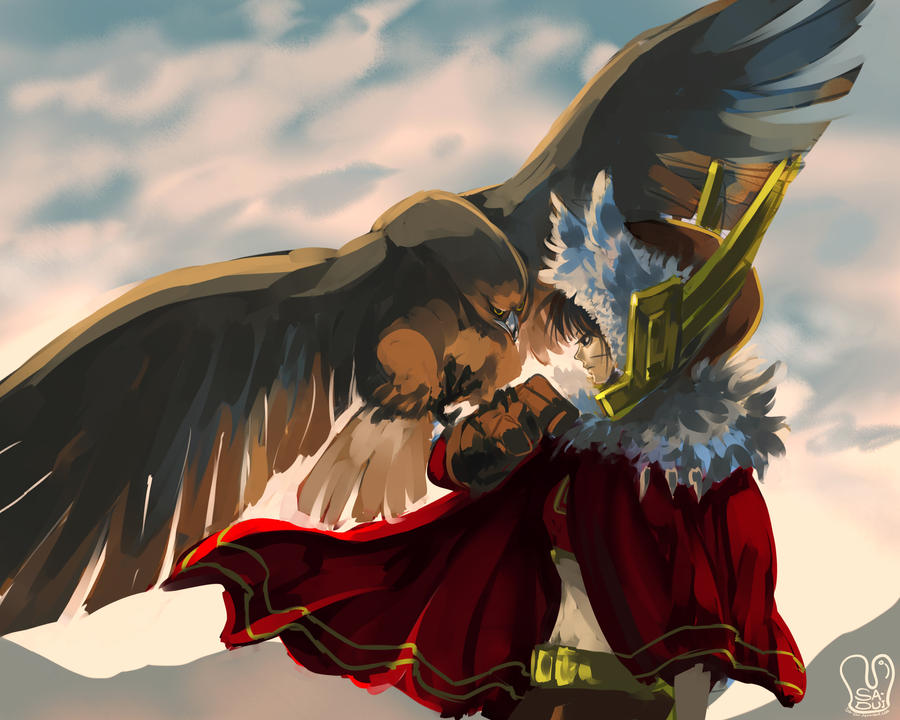 Speed paint : Girl and Golden Eagle by Sa-Dui