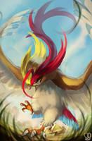 Pokemon : Mega Pidgeot by Sa-Dui