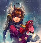 OC : SNOW DRAGON by Sa-Dui