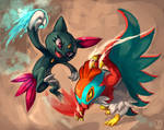 Pokemon : Hawlucha vs Sneasel