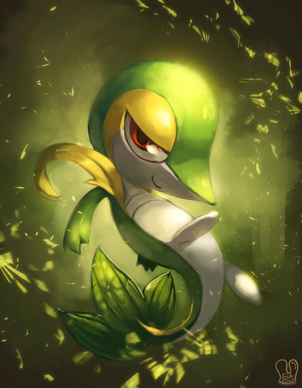Pokemon : Snivy by Sa-Dui