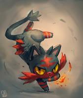 Pokemon : Litten by Sa-Dui