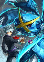 Pokemon : Steven and Mega Metagross by Sa-Dui