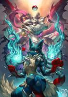 Pokemon x UNDERTALE : Lucario x Asriel by Sa-Dui