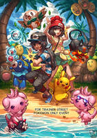 Commission : Trainer street poster by Sa-Dui