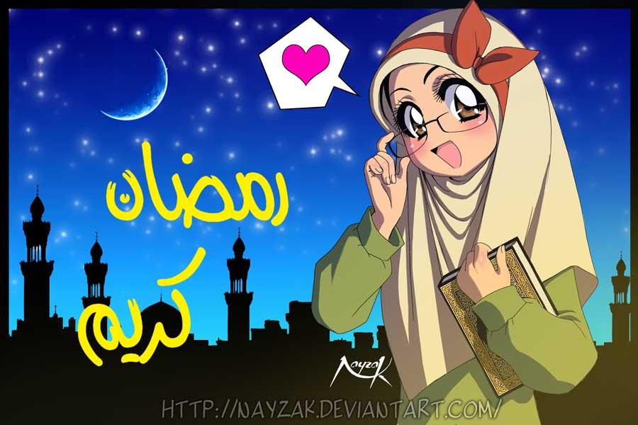 Ramadan Kareem Nayzak On Deviantart Jpg 900x600 Anime Animasi Muslimah Picturesque Comic