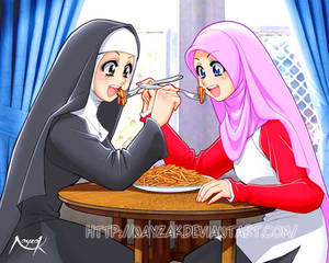 peaceful loving sisters