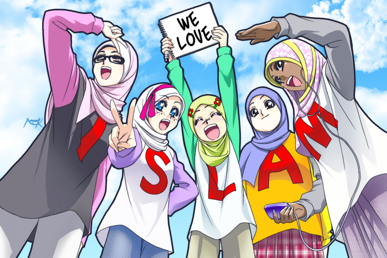 Gambar Wallpaper Kartun Islam Kampung Wallpaper