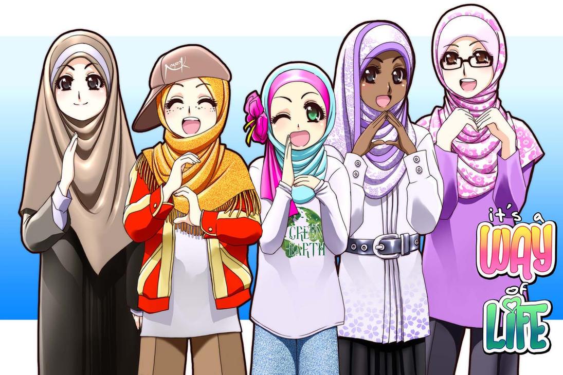 Kumpulan Gambar Kartun Love Islam Kolek Gambar