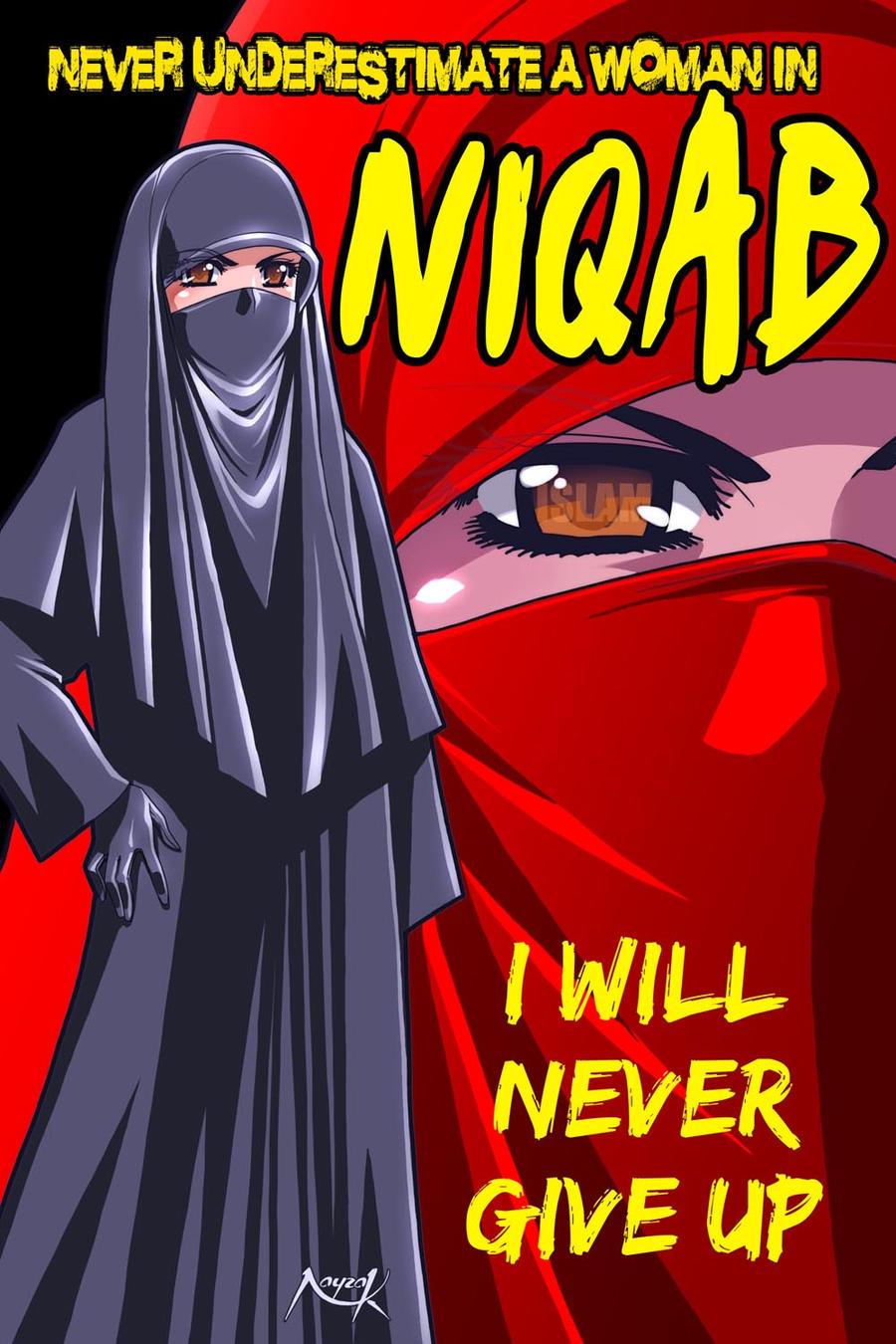 A Woman In Niqab By Nayzak