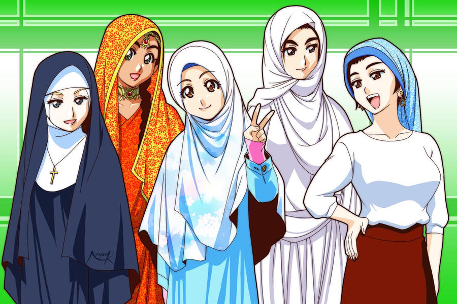 headscarf princesses by Nayzak