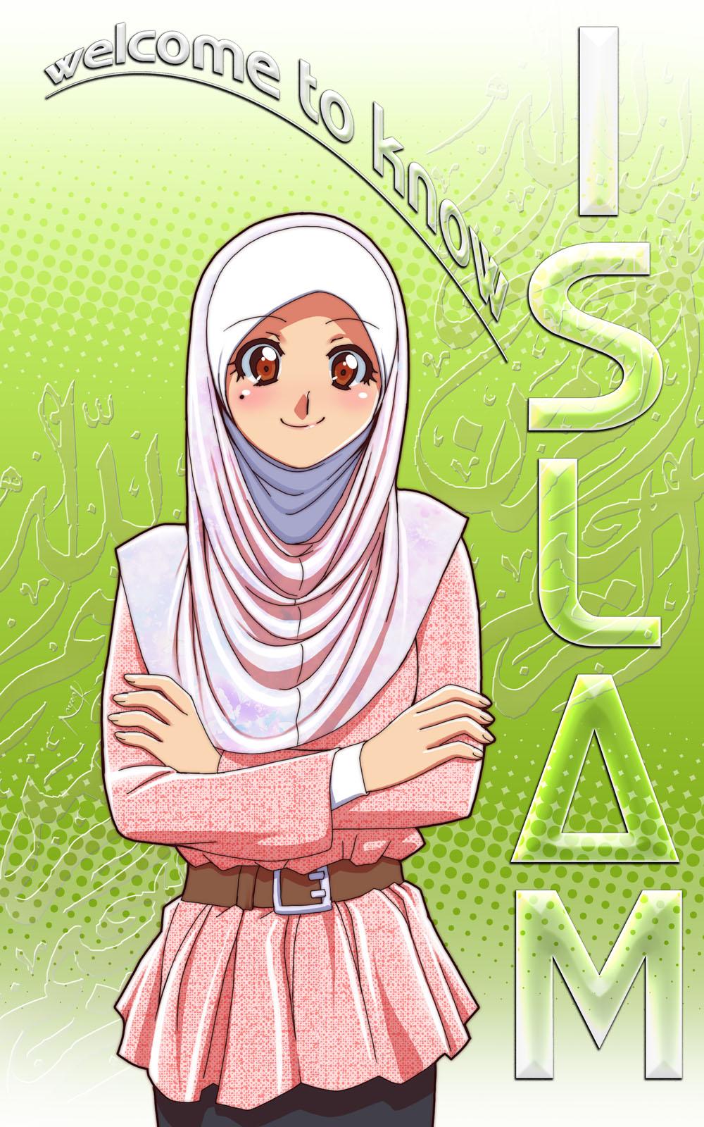 Cute Muslim Girl Cartoon Wallpaper Jpg 1000x1600