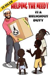 Helping the needy by Nayzak