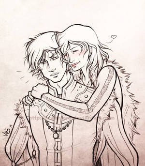 Ana and Victor sketch