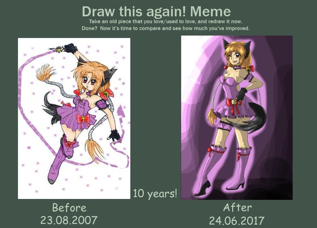[Meme] Draw this again! 10 YEARS! by mingmiyu