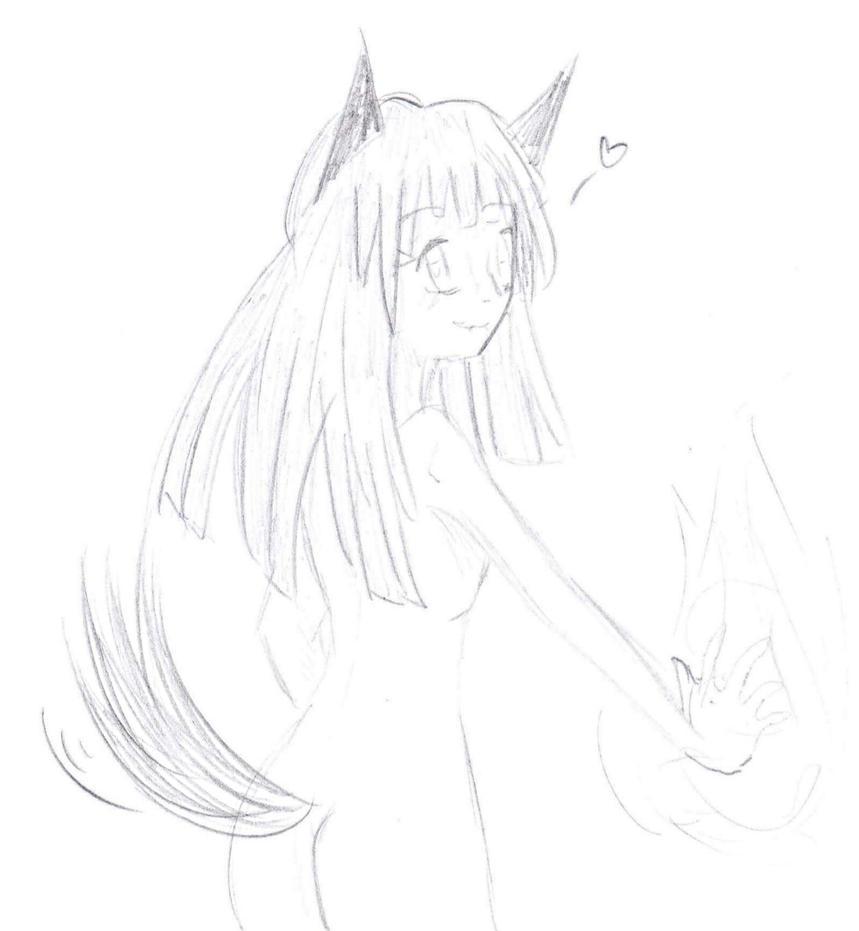 [sketch] Foxgirl by mingmiyu