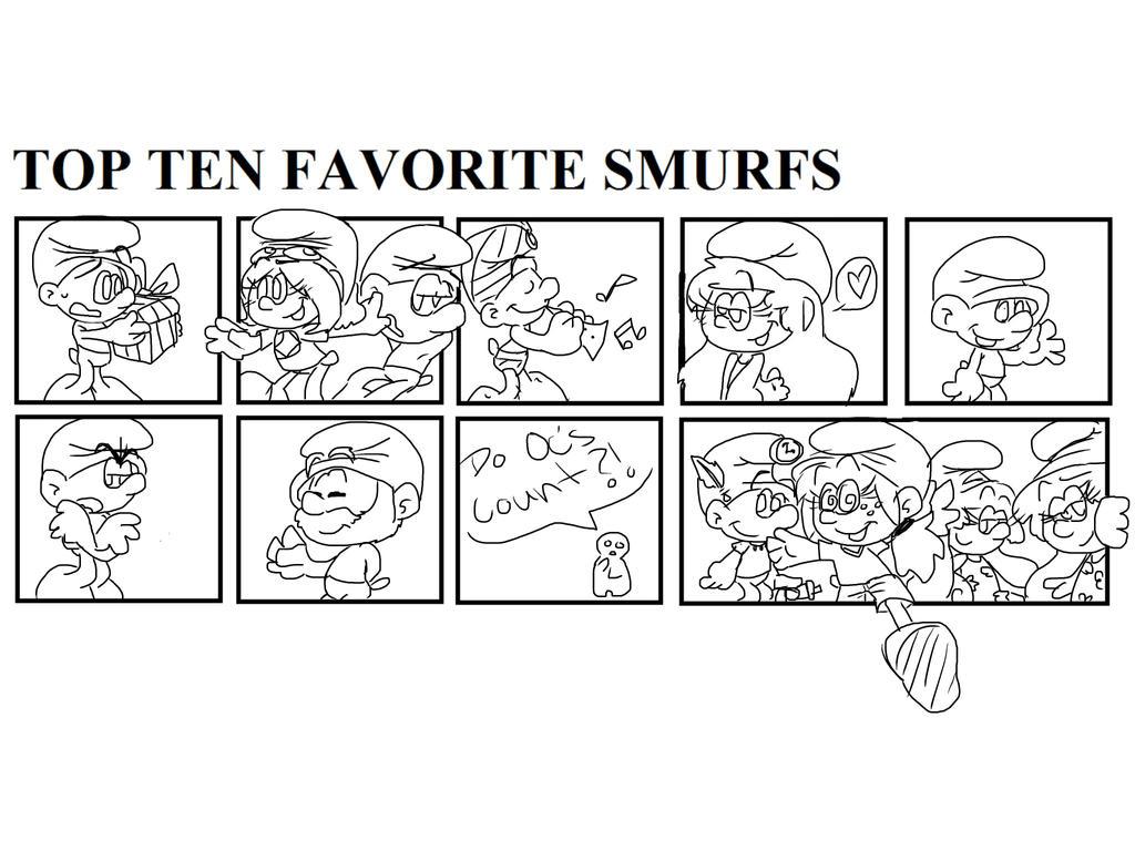 My top ten fav. smurfs by RichHoboM3