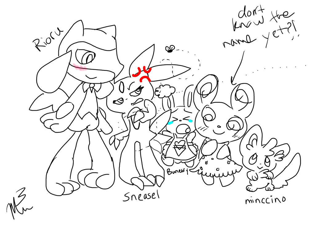 My little Pokemon team by RichHoboM3