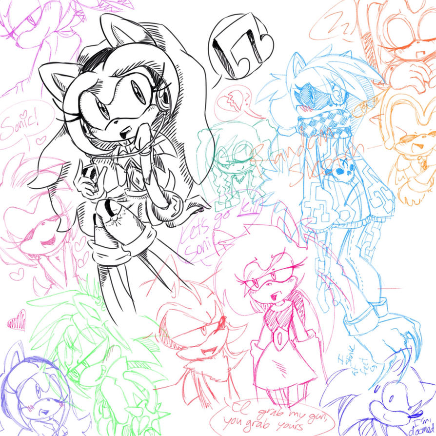 Random doodles I drew while having a fever by RichHoboM3