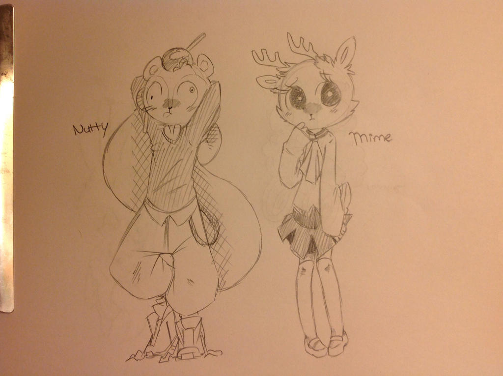Nutty and Mime (highschool style) HTF by RichHoboM3