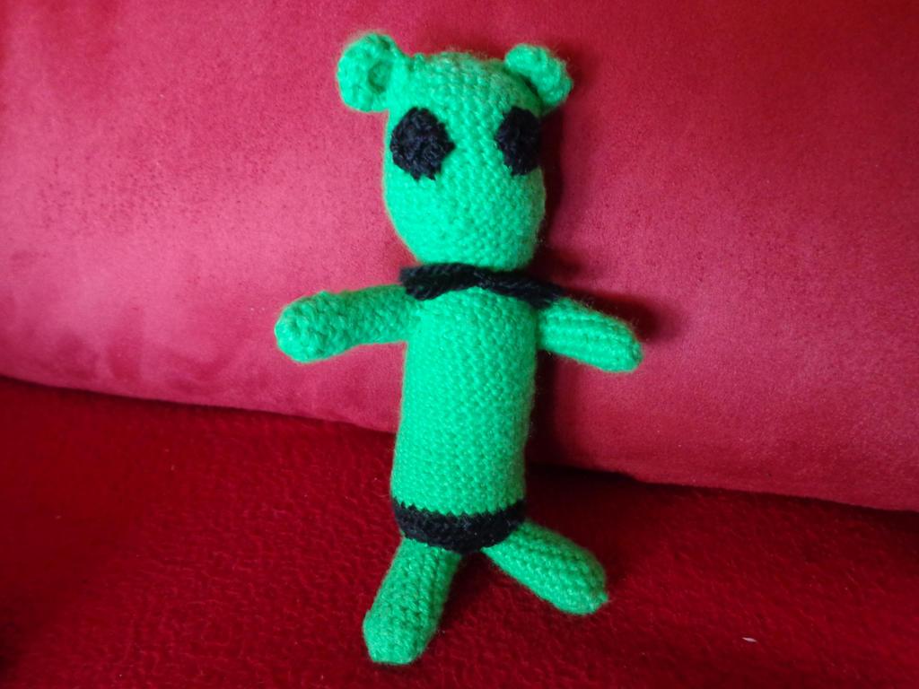 Zombie hamster (crochet)