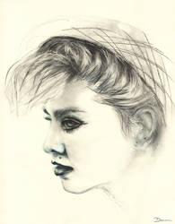 Madonna portrait by Acalewia