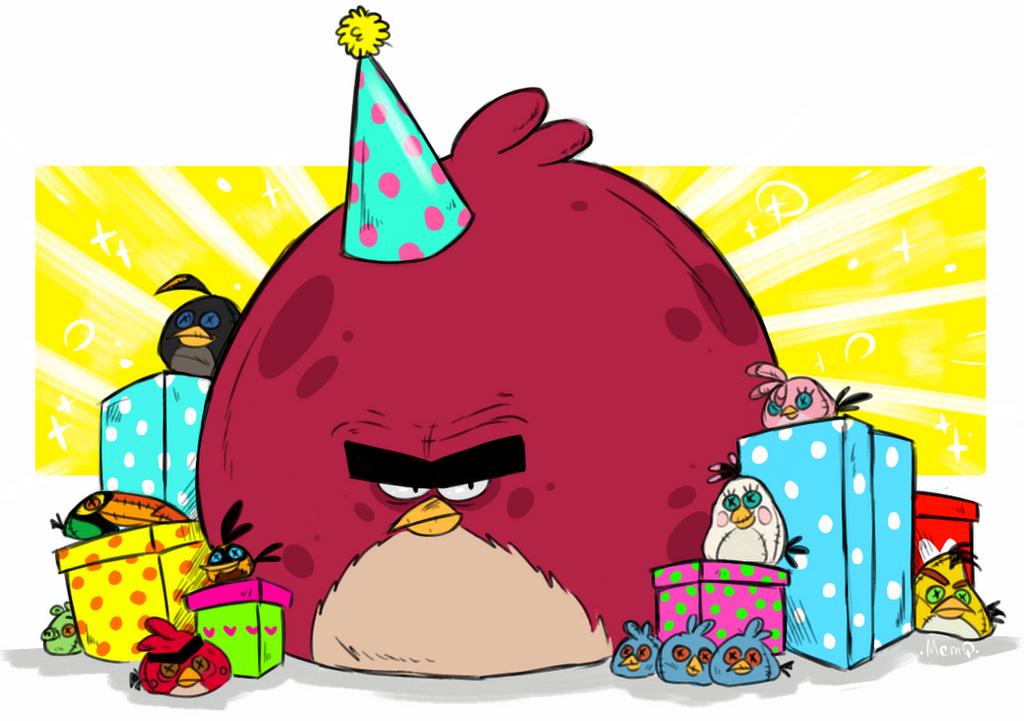 Открытки на день рождения мальчику энгри бердз