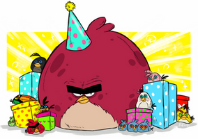 Angry Birds (Toons) :  HAPPY BIRTHDAY ANGRY BIRDS by MemQ4