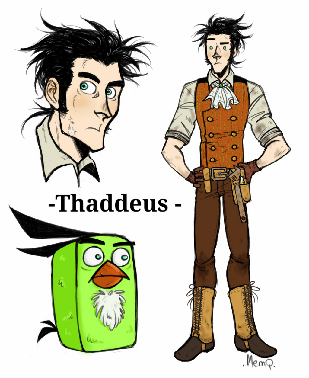 Angry Birds Toons Thaddeus Oc By Memq4 On Deviantart