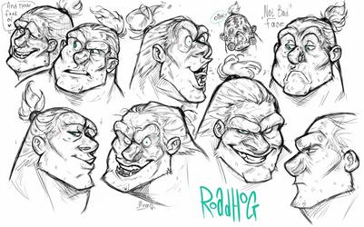 Overwatch : Roadhog Expressions by MemQ4