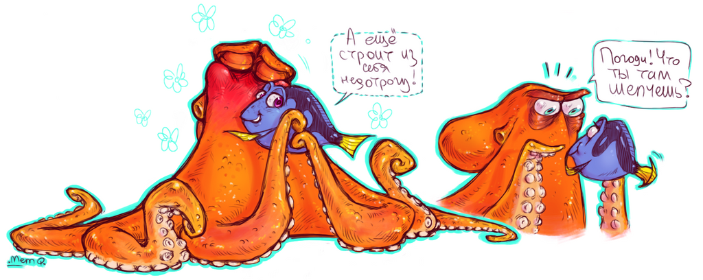 finding dory hank x dory by memq4 on deviantart