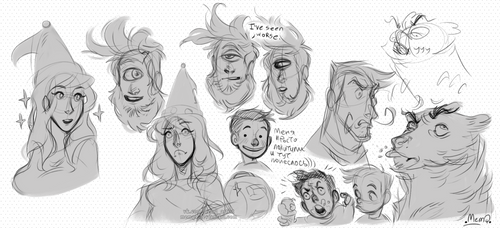 Pit People : Sketches by MemQ4
