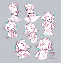 Pit People : Horace and Hazel Sketches by MemQ4