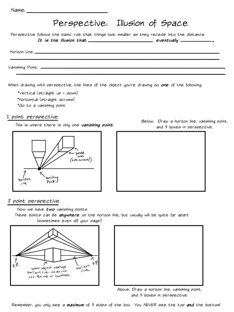 Worksheets One Point Perspective Worksheet illusion of space perspective by ccrask on deviantart ccrask