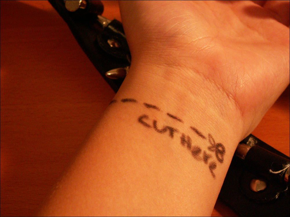 Cut Here By Pamz0rs On Deviantart