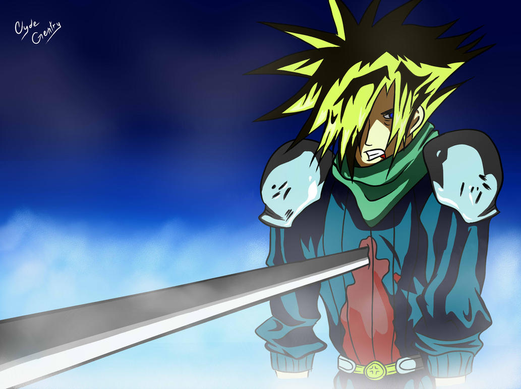 Cloud Strife Stabbed with Sword by Koman07