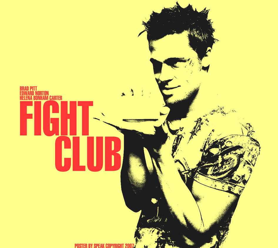 fight club poster by enderthethird on deviantart. Black Bedroom Furniture Sets. Home Design Ideas