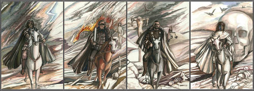Four Horsemen of the Apocalypse by mashakukhar