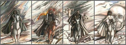 Four Horsemen of the Apocalypse by mashakukhar