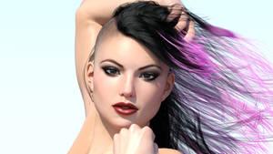 iRay Testing - Punk Girl Closeup by AwakeOrStillDreaming