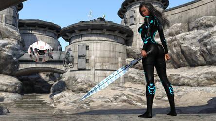 Kendra - GIS Warrior IRAY Version by AwakeOrStillDreaming