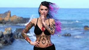 Punk Girl Beach 2