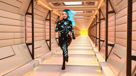 Punk Girl Domina -  Sci-Fi Version 2 by AwakeOrStillDreaming